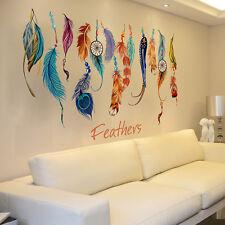 Classic Dream Catcher Feather Wall Sticker Sofa Art Decal Mural Lucky Home Decor