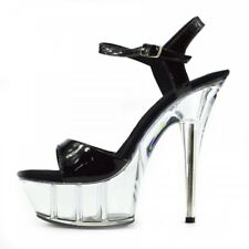 b78b9fd481df Women s Charmaine Clear Perspex High Heels Fashion Platform Pole Dancing  Shoes