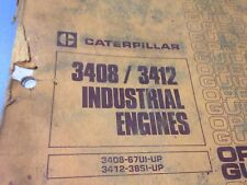 CAT CATERPILLAR 3408/3412 Operation Guide Book Manual