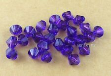 400Pcs 4mm Purple Acrylic Bicone Spacer Loose Beads DIY Jewelry Making