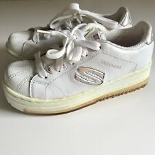 Vintage 90's Skechers Active White Platform Mule Sneakers size 7.5 Chunky Euc