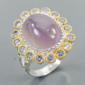10ct+ Fine Art Chalcedony Ring Silver 925 Sterling  Size 8.5 /R155930
