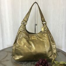 COACH 14331 MADISON GOLD PATENT LEATHER MAGGIE TOTE SATCHEL $348