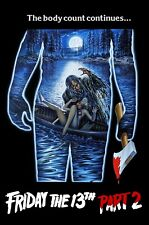 Friday The 13th: Part 2 Movie Poster (1981) Wall Art - NEW - 11x17 13x19