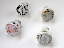 Antique Neumer Berry Springfield Porcelain Beer Bottle Stoppers Caps Lot of 4