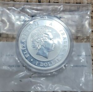 2018 AUSTRALIA WEDGE-TAILED EAGLE - CH. UNC. 1 OZ SILVER COIN IN A CAPSULE