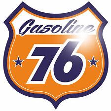 76 Gasoline 15cm Aufkleber Sticker US-Cars Oldschool Yougtimer OEM Retro Racing