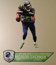 """Richard Sherman FATHEAD Official Player Graphic 25""""x11"""" +Name Sign 27"""" Seahawks"""