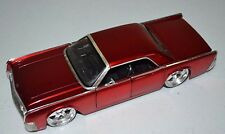 USED JADA 1/24 Red 1963 Lincoln Continental Diecast (SCRATCHES) DUB CITY