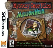Mystery Case Files MillionHeir Video Game Nintendo DS 2008