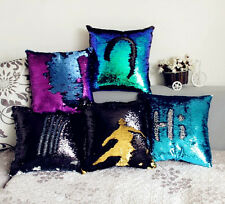 Chic Square Reversible Mermaid Sequin Cushion Cover Glitter Throw Pillow Cover