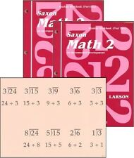 Saxon Math Grade 2 Workbooks Parts 1 & 2 with Fact Cards - NEW