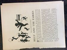 m17b6 ephemera 1920s short story billy and the fairies a robinson