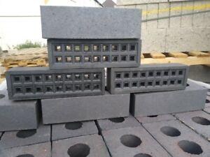 Black / Blue Clay Air Brick Vent  - METRIC 215mm x 65mm  [Not Victorian]
