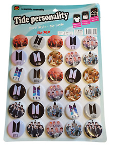 5x BTS BANGTAN BOYS BEYOND THE SCENE K-POP BAND BADGES PIN BUTTONS 4.5cm UKSELL
