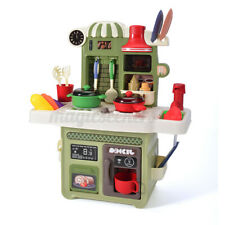 Kitchen Playset With Light Sound Effect Pretend Child Kids Play Toy Cooking