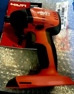 HILTI SID 18-A CORDLESS IMPACT DRIVER TOOL ONLY,BRAND NEW.