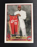 2003-04 Topps #221 LeBRON JAMES ROOKIE RC Lakers Basketball Card  MINT