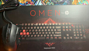 OMEN BY HP GAMING KEYBOARD 1100 WITH PICTEK MOUSE AMAZING CONDITION!