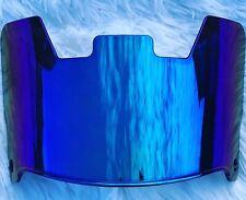 Precision Football Helmet Visor, Rainbow Blue