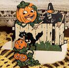 MINT RARE UNUSED Vintage Halloween Diecut Placecard Decoration Dennison 1920s