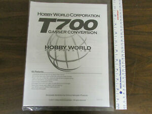 Hobby World T700 Gasser Conversion RC Helicopter Instruction Manual New