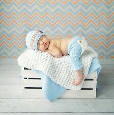 Baby Strickmütze Neugeborenen Fotoshooting Newborn Fotografie Foto Tom hellblau