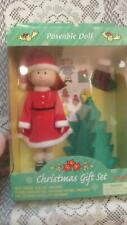 "Nib Vintage 99 Madeline 8"" doll in Christmas Gift Set by Eden W/ Christmas tree"