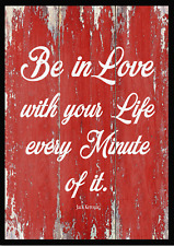 """Reproduction Jack Kerouac """"Be In Love"""" Poster, Home Wall Art"""