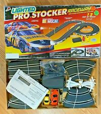 Lighted Pro Stocker Raceway Nascar Slot Car Battery Operated Life-Like Racing