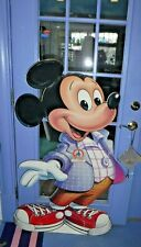 """Vtg~1987~52""""~Mickey Mouse Display Cut Out~Coca Cola 15 Years~Walt Disney World"""