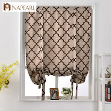 NAPEARL 1 Panel Kitchen Short Curtains Tie Up Drapes Roman Shades Window Decor