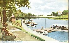 Chester, The Boat Moorings, colour postcard, posted 1960