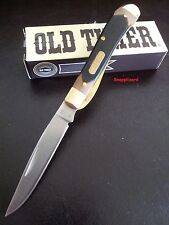 "Schrade Old Timer 3.8"" Gunstock Trapper 194OT Lockblade Folding Pocket Knife"