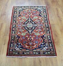Traditional Vintage Wool Handmade Classic Oriental Area Rug Carpet 137 X 66 cm