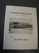 Community Baptist Church Emeryville CA. Dedication Program 1971-Rev. Frank Poole