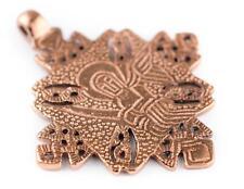 Turmi Copper Coptic Cross Pendant 55x65mm Ethiopia African Large Hole Handmade