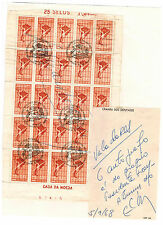 1968 Brazil Stamps Chanber of Deputies Signed by Eduardo Frei President of Chile