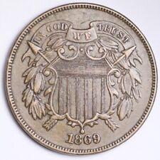 1869 Two Cent Piece CHOICE AU+/UNC FREE SHIPPING E200 AHA