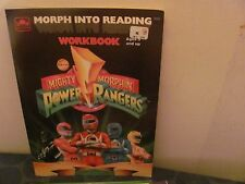 "Mighty Morphin Power Rangers ""Morph into Reading"" Workbook NEW"