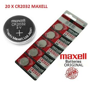 20 X CR2032 Branded Hitachi MAXELL 3V LITHIUM Coin Cell Button Batteries
