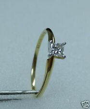 18k & 950 Platinum 1/4ct LEO Princess Cut Diamond Solitaire Engagement Ring 9.5
