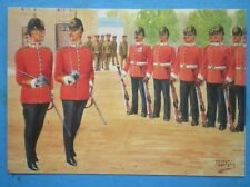 POSTCARD THE ESSEX REGIMENT - COMPANY COMMANDER & 2ND IN COOMAND (REVIEW ORDER)