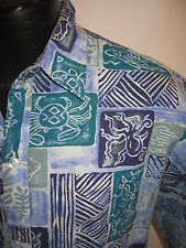 HAWAIIAN SHIRT BLOWOUT! # 4061 MALIHINI SS SHIRT MEN'S XLARGE GOOD USED