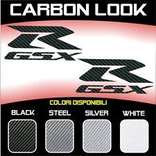 2 Adhésifs Stickers Moto Suzuki GSX R 3D Carbone