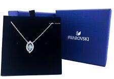 NEW SWAROVSKI Rhodium Sparkling Dance Crystal Green Pendant Necklace 5485721
