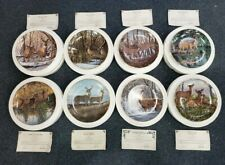 """Lot of 8 Danbury Mint """"Friends of the Forest"""" Collectors Plates w Coa's"""
