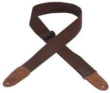 "Levy's 2"" Brown Cotton Guitar Strap"