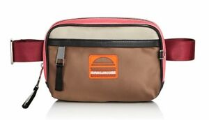 Marc Jacobs Womens Polyester Sport Colorblock Belt Bag Coral Pink Silver NWT
