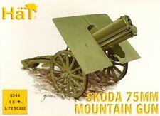NEW 1:72 HAT 8244 4 x WWI Austro-Hungarian Skoda 75mm Mountain Gun